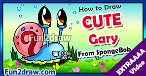 Draw Gary from SpongeBob Squarepants in this web exclusive Youtube video!