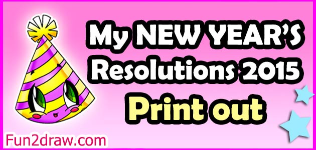print out this handy list to keep track of your new years resolutions
