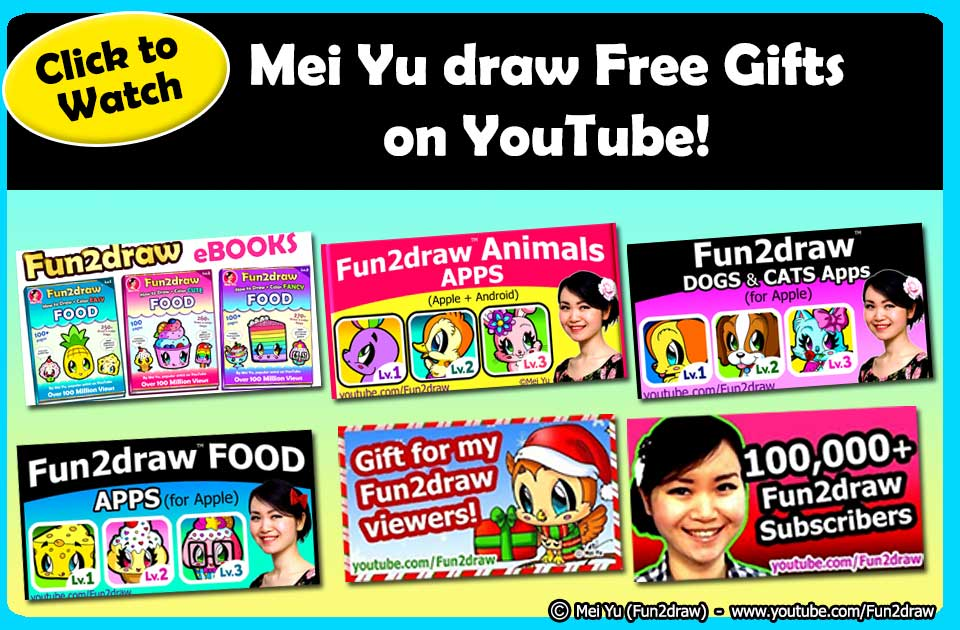 Check out these fun free gift drawings from Mei Yu on Fun2draw's YouTube channel!
