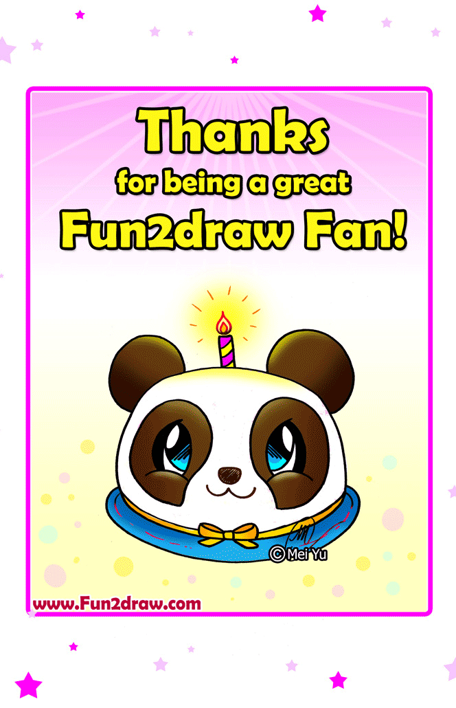 Fun2draw Freebies Birthday Cake Drawing
