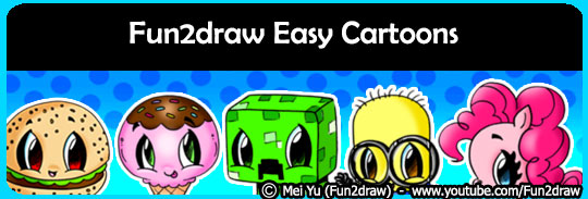 Learn how to draw cartoons on the Fun2draw channel.