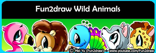 Draw cute and easy wild animals, like lions, wolves, birds, and more.