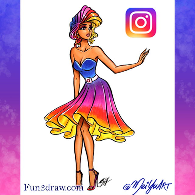 The logo icon for the social network Instagram, as a fancy,