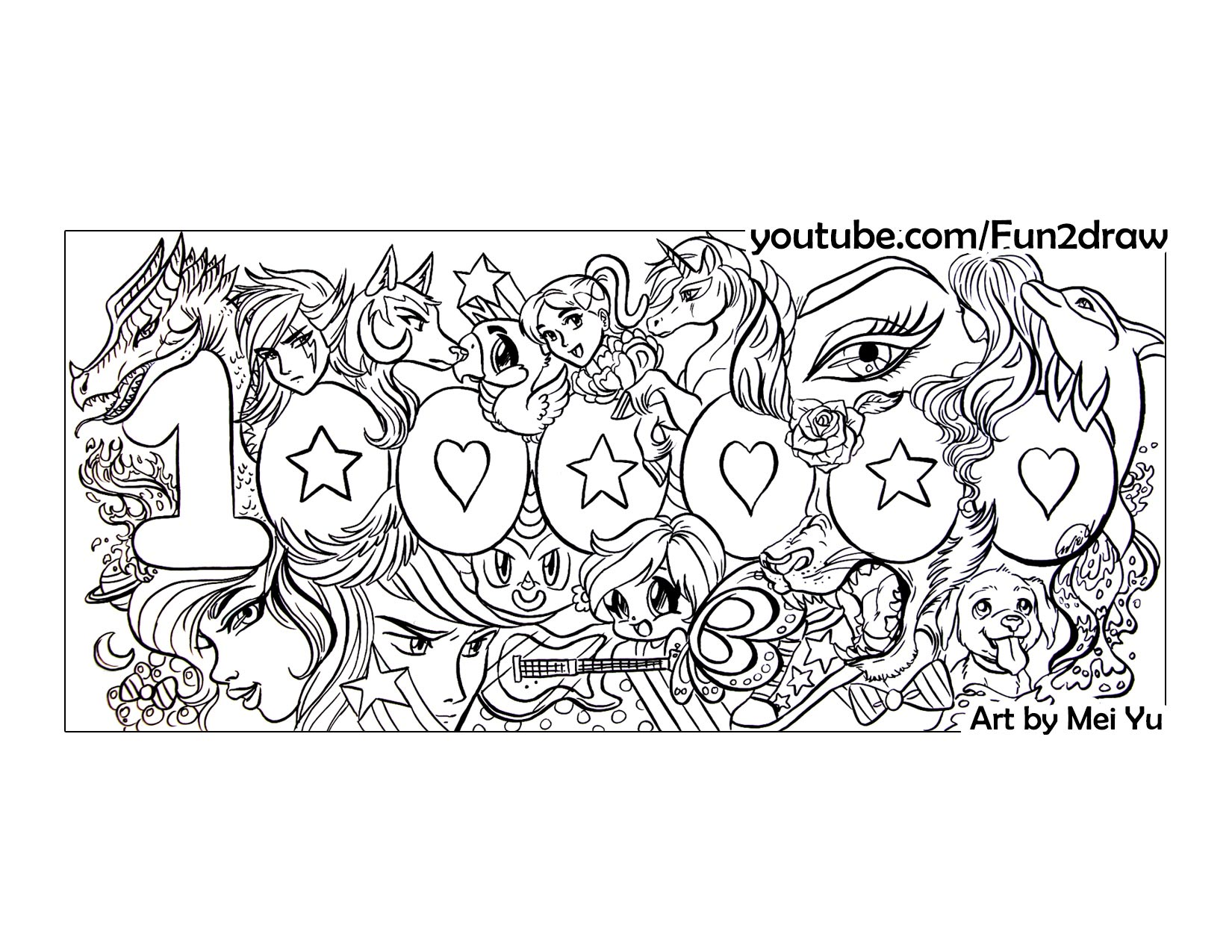 fun2draw youtube coloring pages - photo#14