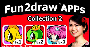 Collection 2 for the Fun2draw apps are now out! Draw even more easy to draw animals, kawaii things, and 