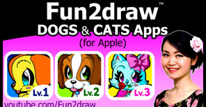 These Fun2draw apps help you learn how to draw cute dogs and cats easy!