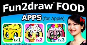 Draw delicious food, yummy treats, and tasty snacks with these Fun2draw apps!