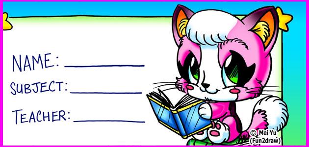 Fun2draw freebies for Fun to draw cat