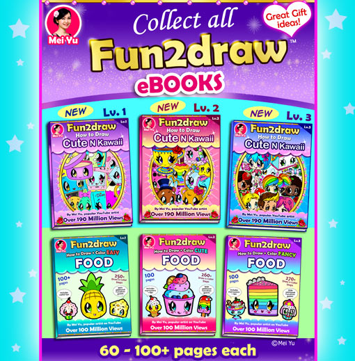 Learn to draw and colour cartoon characters with Fun2draw eBooks!