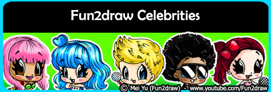 Draw cool and popular celebrities step by step!