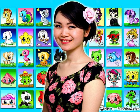 Mei Yu, the Canadian artist and creator of YouTube channel Fun2draw.